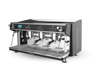 Espressomaskin professionell tre bryggrupper